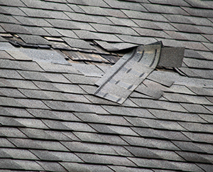 Damaged Shingles Causing Roof Leaks