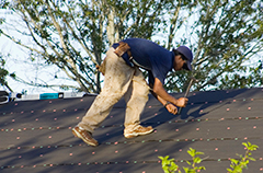 Roofer Fixing Roof