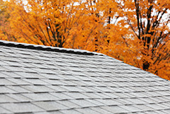 New Roof Ridge Vent during Fall