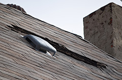 Damaged Roof Shingles After Winter
