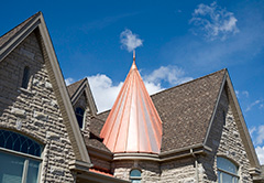Copper Roofing On Toronto Home
