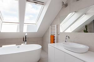 Beautiful Skylights In Toronto Bathroom